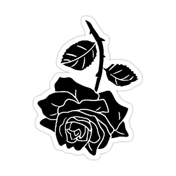 Lil Peep Rose Tattoo Original Design Sticker By Nmrkdesigns In 2021 Rose Tattoo Floral Stickers Stickers