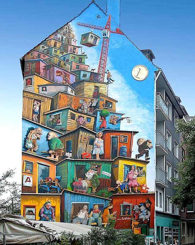 "Artist : Klaus KLINGER - ""Economic Miracle"" - Location: Dusseldorf, Germany - Identifications : Page Facebook ""Street Art Save My Life"" https://www.facebook.com/photo.php?fbid=273533836082914=a.209891349113830.32320.161613327274966=1"
