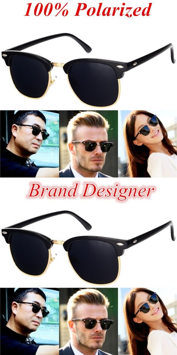 8ea03df54e4b BOYEDA Brand Sunglasses Polarized Vintage Half Frame Retro Glasses for Men  Round Classic UV400 Mirror Designer Sun Glasses Women