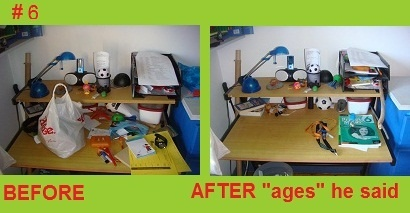 Ben's desk after what he says where 'ages'!!!