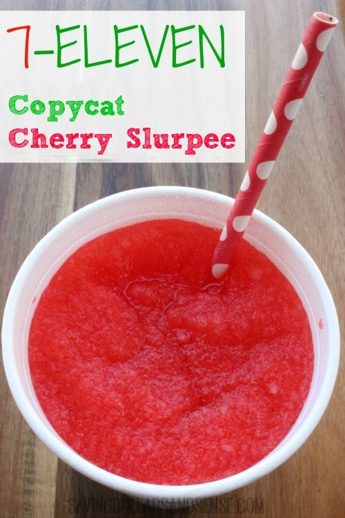 Nothing screams summer quite like a 7-11 Cherry Slurpee.  I'm trying this recipe at home this year to save!!