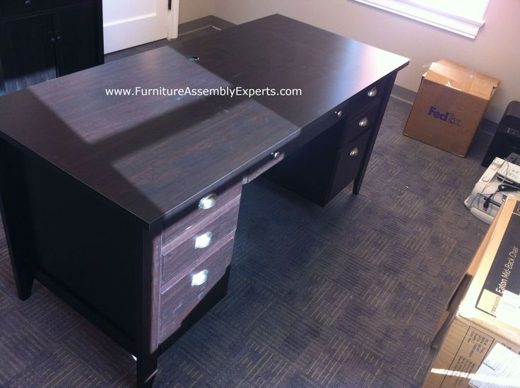 Staples Desk Made By Sauder Assembled For A Company In Southern MD Furniture Assembly Experts