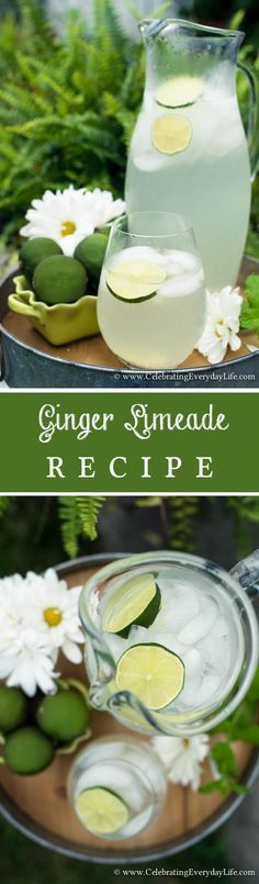 Easy and delicious Ginger Limeade Recipe. A perfect Summer Drink!