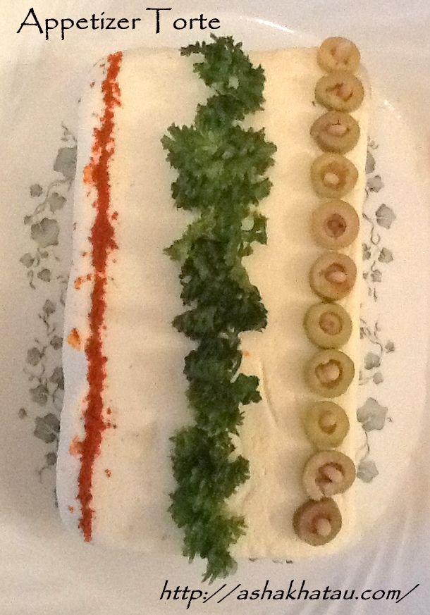 Appetizer Torte  #Epicure #AshaKhatau #Starters #Salads