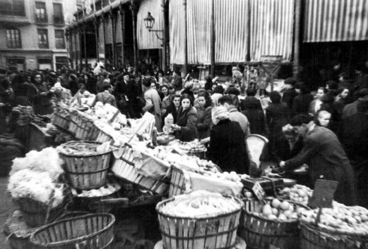 Antiguo Mercado de san Miguel, Madrid (1 de enero de 1918)