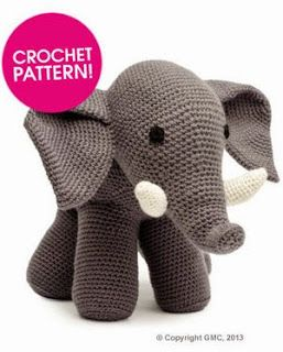 2000 Free Amigurumi Patterns: Free Elephant Crochet pattern