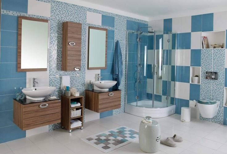 Güneysu Banyo Dolabı #banyo #bathroom #banyodolabi #mavi