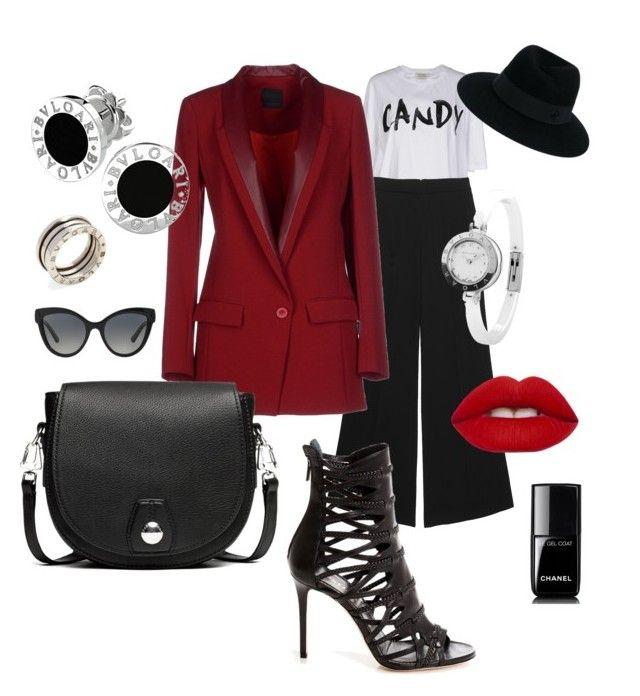 """""""#FashionMood"""" by antonella-ienna on Polyvore featuring moda, Pinko, rag & bone, Bulgari, Lime Crime, Chanel e Maison Michel"""