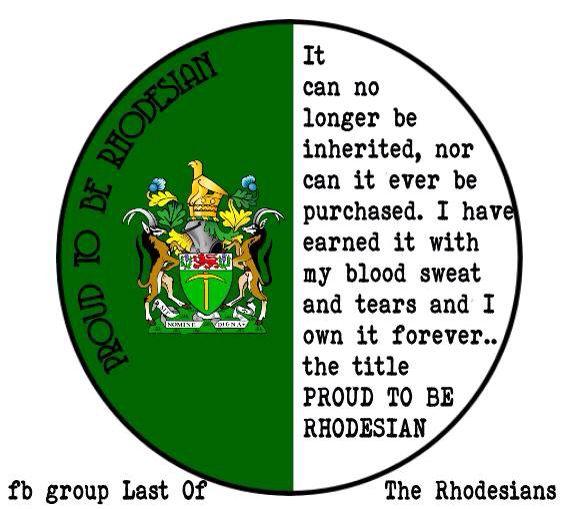 Proud. 90 years of Rhodesians.