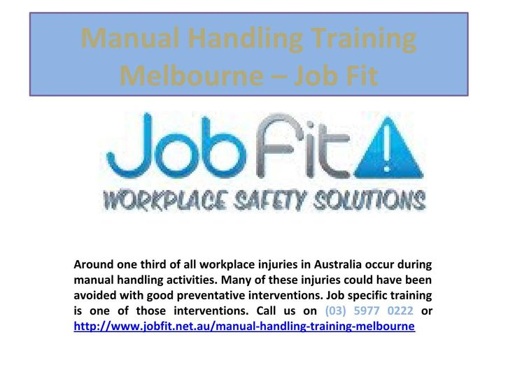 Manual handling training melbourne  Around one third of all workplace injuries in Australia occur during manual handling activities. Many of these injuries could have been avoided with good preventative interventions. Job specific training is one of those interventions.