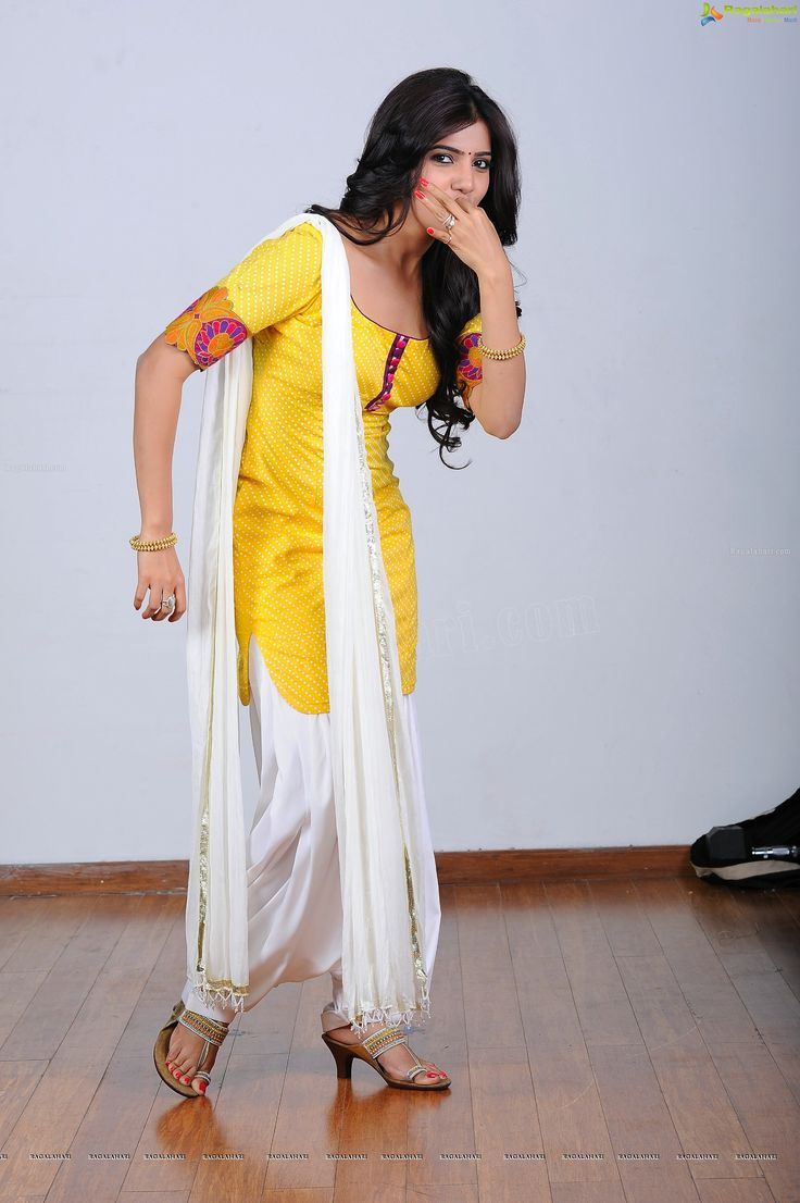 Samantha posing in Salwar Kameez and Sleeveless Dress (50 High Definition Stills) - Image 31