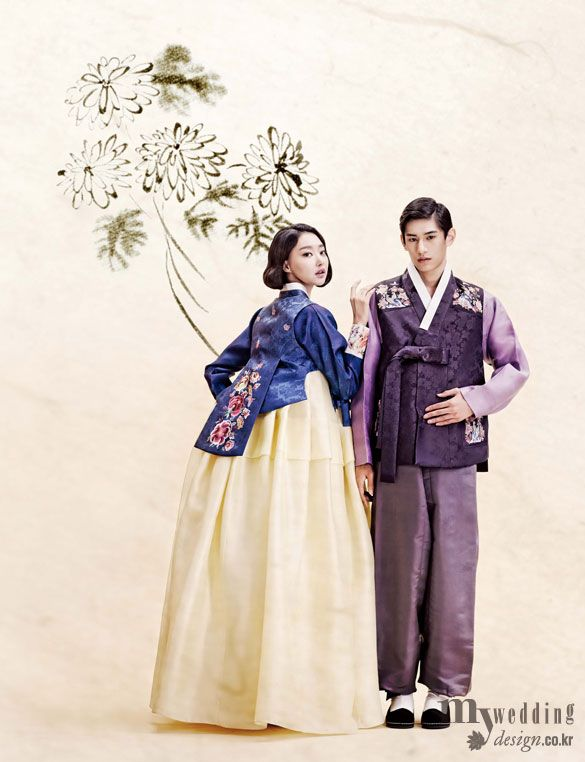 Hanbok, korean traditional clothes / My wedding / 그림을 담은 한복 / 바이단