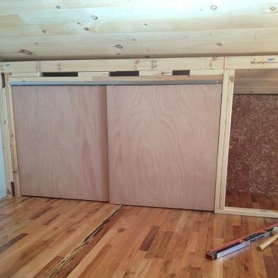 Using space efficiently knee wall closet knee wall for Utilizing attic space