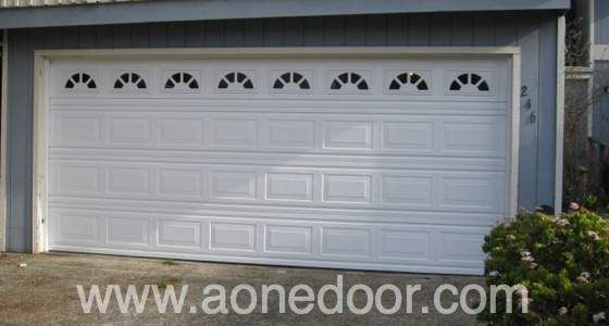 Roll up garage door with glass by a 1 overhead door for Garage door repair santa cruz
