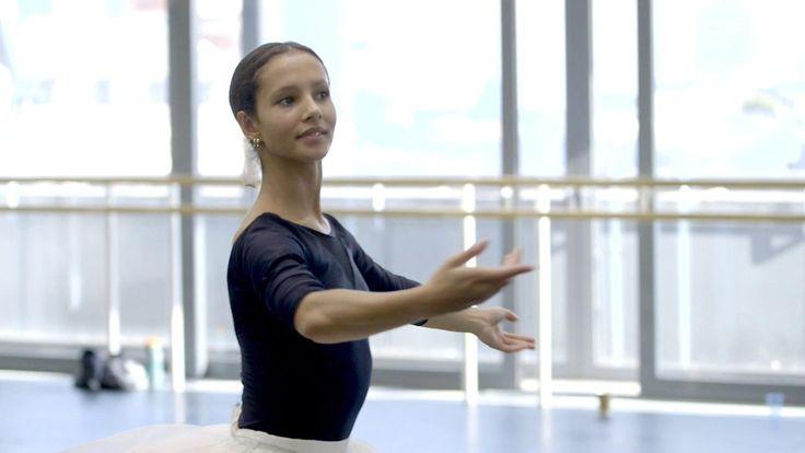 Francesca Hayward rehearses the Sugar Plum Fairy role with her dance partner.