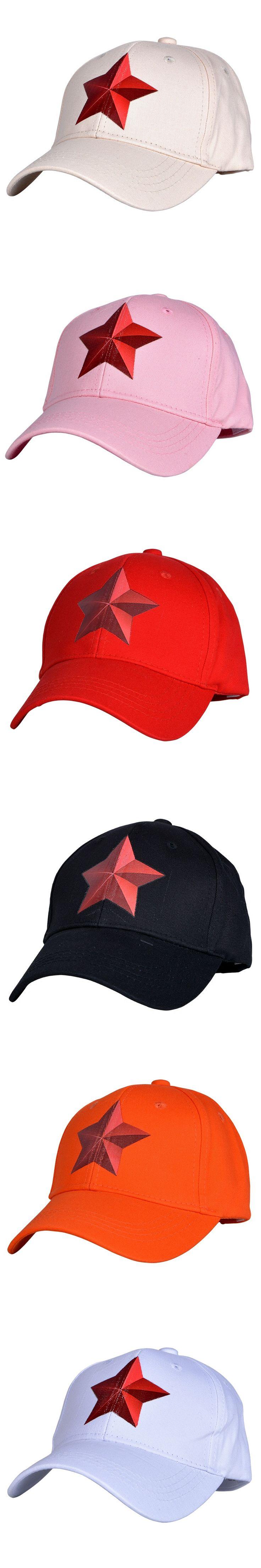 Kids' Pentagram Baseball Caps 3-8years old Red star Hip hop Caps Snapback hats children Baby Boys Girls hat Sun hat