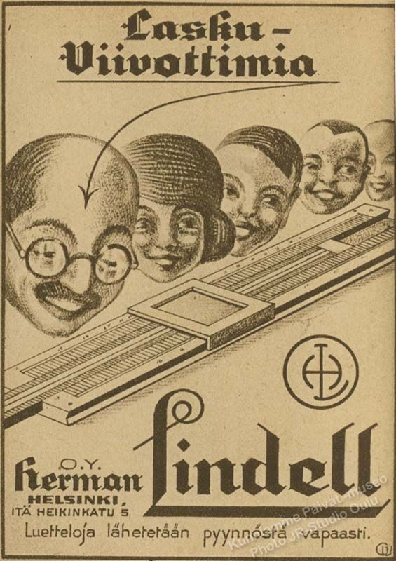 Laskuviivottimia, Herman Lindell