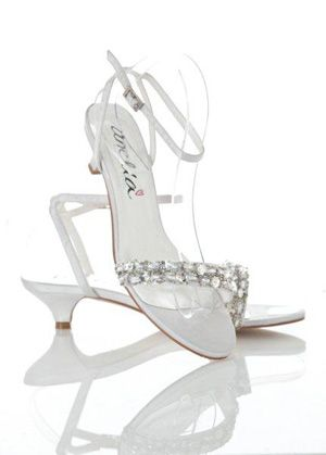 For the bride who still wants glamour but prefers a low heel for her big day - GF Bridal Couture