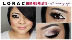 Lorac Mega Pro Soft Smokey Look- Lorac Mega Pro Palette Dirty Plum with MAC #224, Cashmere with MAC #239, Granite with MAC #224, Espresso with MAC #226, Sand with MAC #252. Click through for video tutorial.