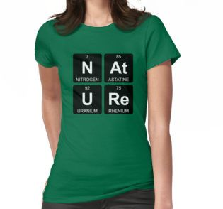 N At U Re - Nature - Periodic Table - Chemistry - Chest by Jenny Zhang • This collection showcases a clever use of symbols of the chemical elements to form a word. • Also buy this artwork on apparel, stickers, home decor, and more.