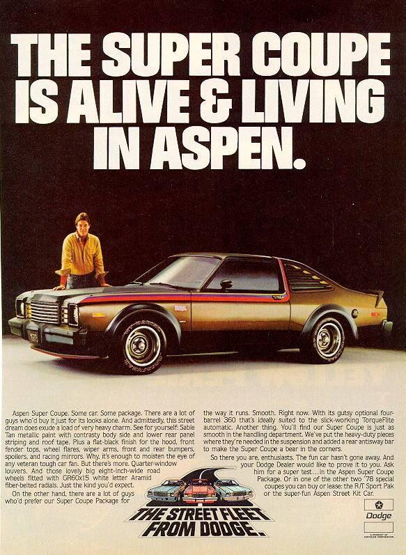 Dodge Aspen Ad