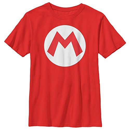 Nintendo Mario Circle Icon Boys Graphic T Shirt Fifth Sun