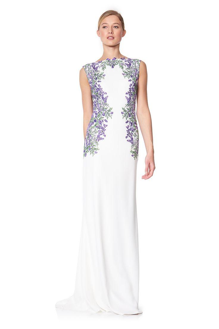 ASF1771L Sukienka wieczorowa biała#eveningdress #dress #simple #fashion #new #glamour