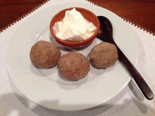 OBRNENK - UBRNJENIK - OBRNJENEK, a kind of a buckwheat dumplings from Upper Savinja Valley made of buckwheat flour, milk, fresh cream and butter.