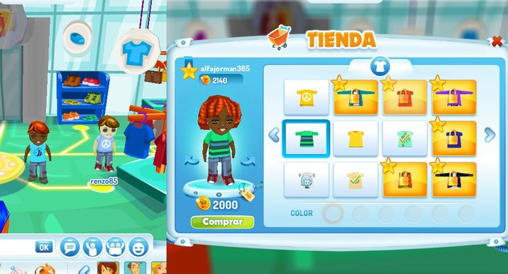 En el Shopping puedes comprar ropa y accesorios para tu avatar y además podrás conocer a otros habitantes de Creápolis!
