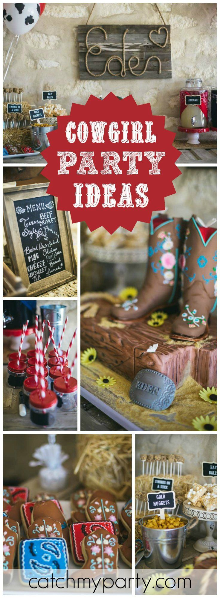 What a fantastic cowgirl party made for a Western princess! See more party ideas at CatchMyParty.com!
