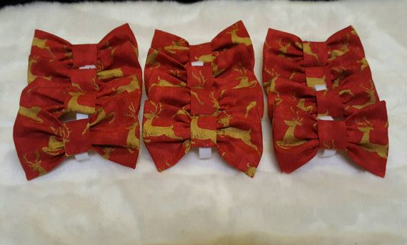 Check out this item in my Etsy shop https://www.etsy.com/listing/476905518/christmas-bow-ties-12-bow-ties-for-620