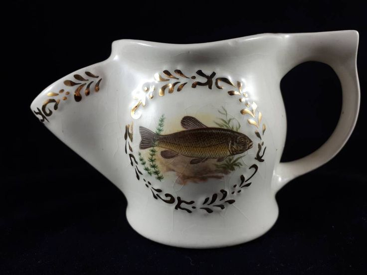 Men's Shaving Scuttle made by P&K England. Mug with fish on both sides by RedeemTheTimeFinds on Etsy https://www.etsy.com/listing/562681914/mens-shaving-scuttle-made-by-pk-england