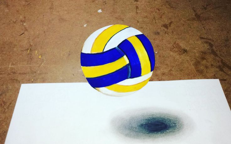how to draw 3d illusion #vollyball