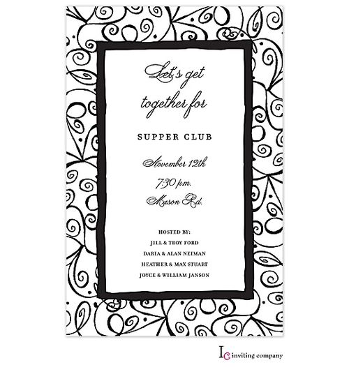 64 best black and white party invitations images on pinterest, Party invitations