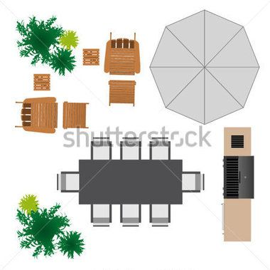 Outdoor Furniture For Landscape Design Stock Vector   Clipart.me
