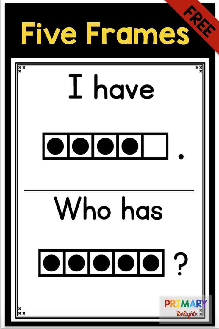 Subitize: I Have... Who Has...? Five-Frames {FREE} | Educational ...