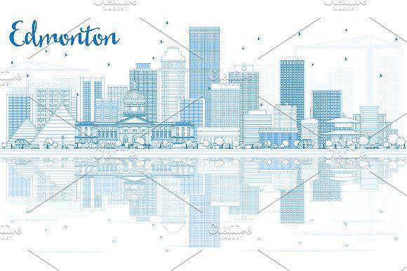 #Outline #Edmonton #Skyline by Igor Sorokin on @creativemarket