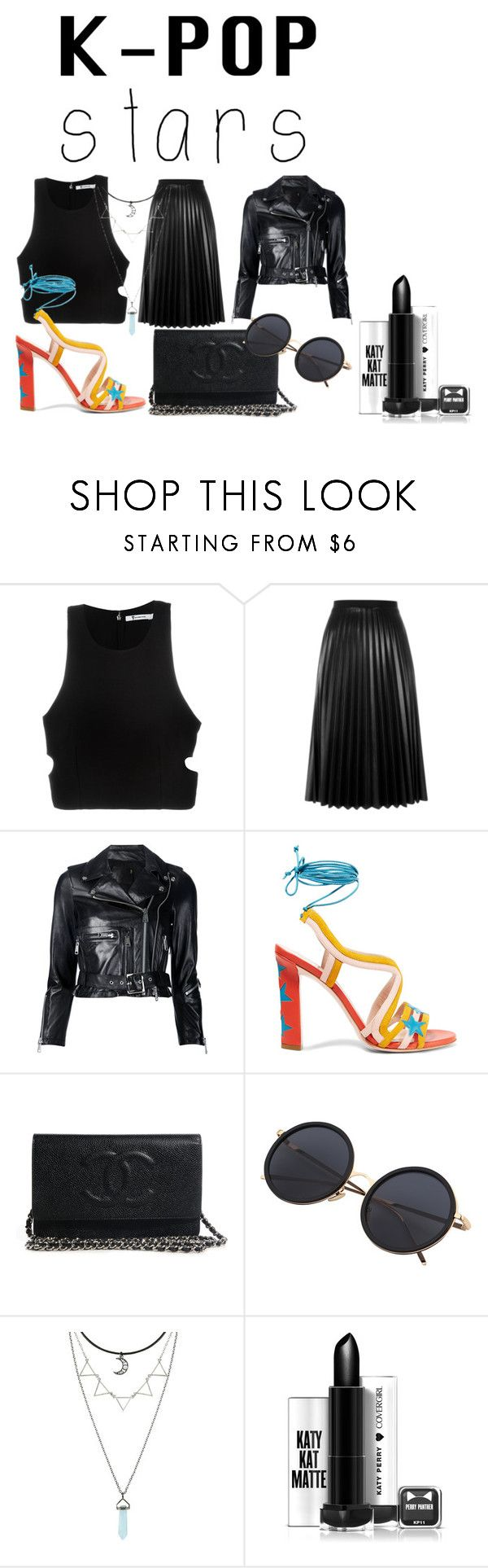 """K - pop Stars"" by lola44442 ❤ liked on Polyvore featuring T By Alexander Wang, Aviù, R13, Paula Cademartori and kpop"
