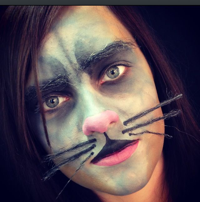 Practice make-up for the Rat in this year's Panto - by Hannah Burdall