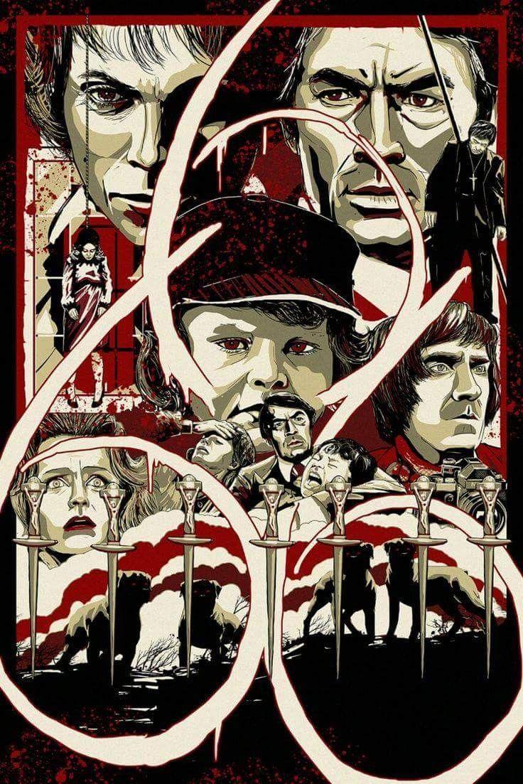 horror movie poster art the omen 1976 by andy fairhurst