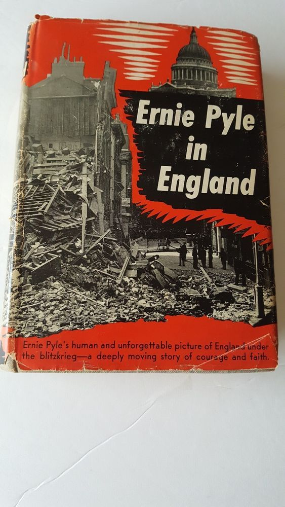 Vintage Ernie Pyle In England1st Editionused Must Have Ernie