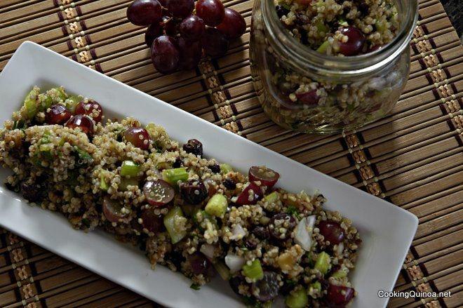 Quinoa, Grape and Walnut SaladBased Diet, Walnut Salad, Cooking Quinoa, Based Food, Quinoa Grape, Food Diet, Balsamic Grape Quinoa, Salad Httpbitlyhayy5A, Healthy Recipe