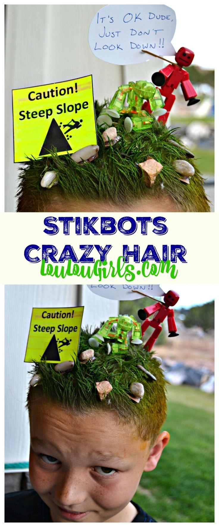 stikbots-crazy-hair-day-idea-boy! #stikbots #crazy #hair #day #tips #ideas #inspiration