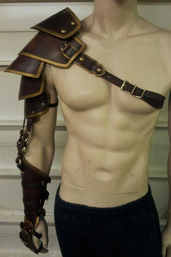 Leather Armor Custom Crafted Full Arm by SharpMountainLeather