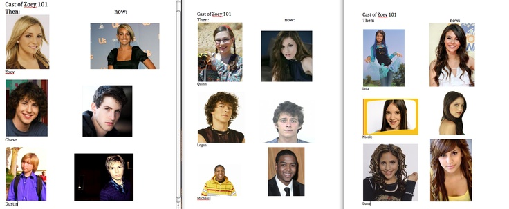The cast of zoey 101 back then and what they are doing today....... the guy who played Logan is now in jail because of marijuana addiction..... sketchy lol