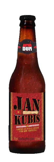 Cerveja Jan Kubis, estilo Premium American Lager, produzida por DUM Cervejaria, Brasil. 5.3% ABV de álcool.