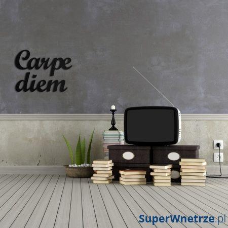 Napis na ścianę DekoSign CARPE DIEM czarny CD1-1