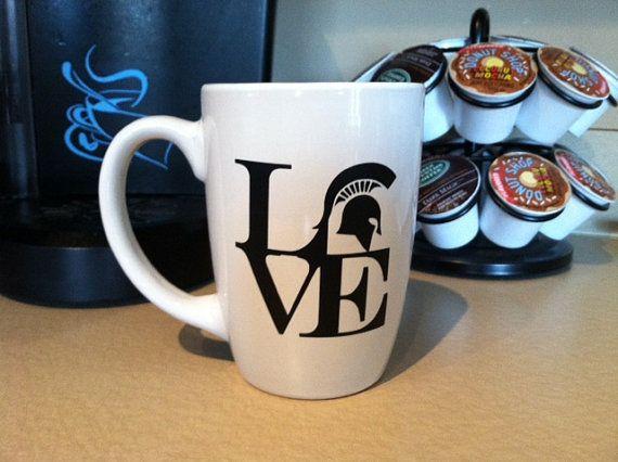 Michigan State University Love MSU Mug Cup by IndigoChicCreations, $8.00