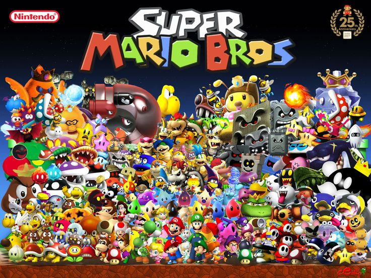 Super Mario Bros Character Wallpaper Cartoon Tattoos