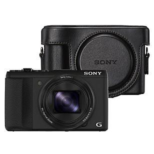 Sony Cámara Semiprofesional HX-50 Negra + Bolso de Cuero